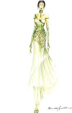 disegni e progetti stilista moda italiana abito donna